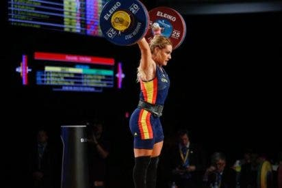 La española Lydia Valentín, campeona del mundo de halterofília