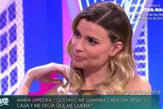 """María Lapiedra: """"Cuando llegue a casa mi marido ya no estará"""""""
