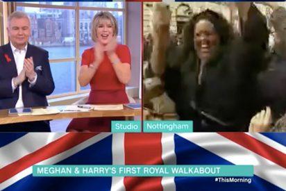 [VIDEO] Esta reportera se volvió loca al hablar con Meghan Markle