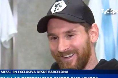 """Leo Messi, sobre sus hijos: """"Thiago es un fenómeno, Mateo es un hijo de p..."""""""
