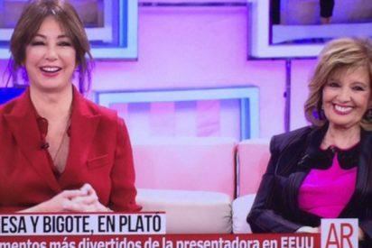 """Ana Rosa se pone 'picante' y pregunta a María Teresa por """"el osito"""" Bigote Arrocet"""
