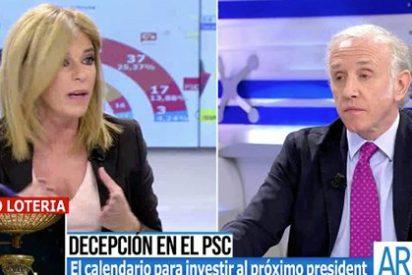 """Esther Palomera paga su indisimulada frustración por la debacle del PSC con Inda: """"No frivolices, Eduardo, porque desvirtúas todo"""""""