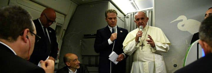 """Francisco, en el avión de regreso a Roma: """"¡Me gustaría tanto visitar China!"""""""