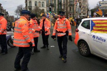 La policía belga está al mejillón y los separatistas le cuelan el trapajo estelado