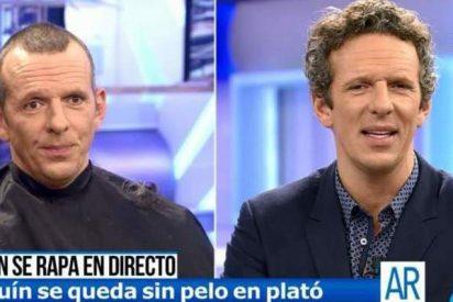 Joaquín Prat se rapa la cabeza en directo en Telecinco: