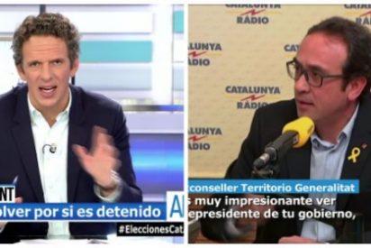 """Joaquín Prat hace picadillo al flatulento y golpista Rull: """"¿Acaso creías que la cárcel era un restaurante de tres tenedores?"""""""