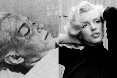 El cadáver de Marylin Monroe y la diva viva, bella y en todo su esplendor.