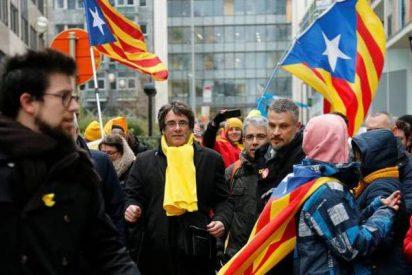 La policía belga cifra en 45.000 los 'indepes' de la manifestación de Bruselas