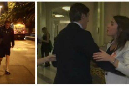 Así 'seduce' el PP al votante catalán: Hernando bailoteando con Montero y Rajoy corriendo al lado de un camión de la basura