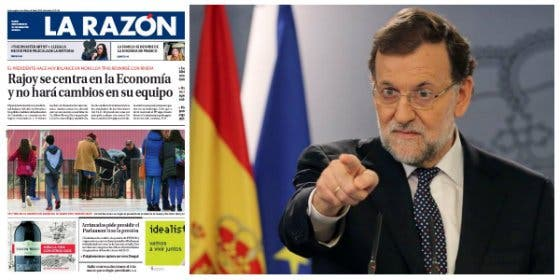La Razón le mete una buena cornada a Rajoy por la querella a ABC en vez de dedicarse a ganar elecciones