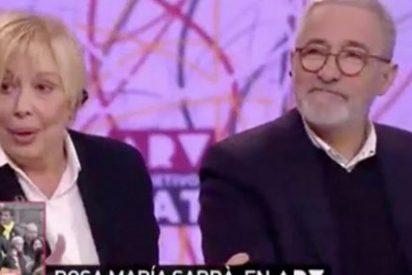 """""""Demente"""", """"senil"""", """"alzheimer"""", """"alcohólica""""...los brutales insultos que los 'indepes' dedican a Rosa María Sardá por poner verde a Marta Rovira"""