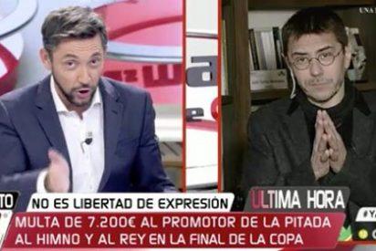 Javier Ruiz pone contra las cuerdas al lenguaraz Juan Carlos Monedero por comparar a C's con el fascismo