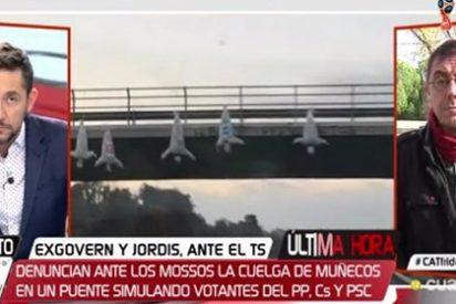 Javier Ruiz le mete una antológica bronca a Monedero por insinuar que el PP colgó los muñecos en Vic