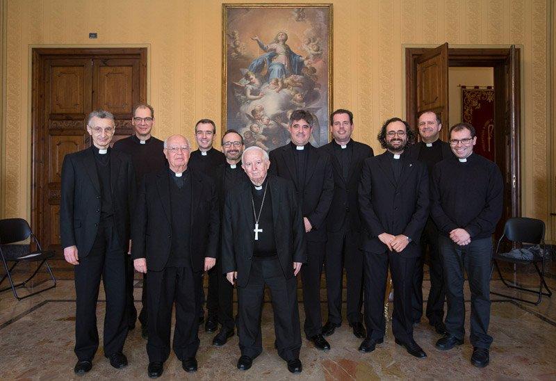Cañizares recibe a los sacerdotes valencianos residentes en Roma