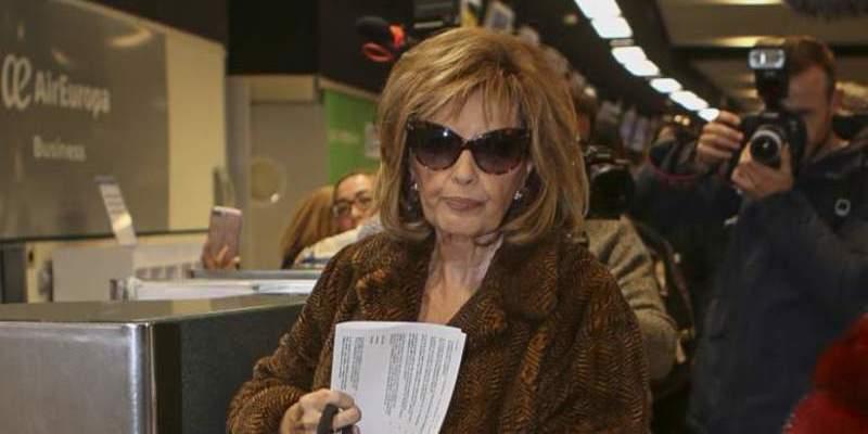 La policía de aduanas retiene a María Teresa Campos en el aeropuerto de Nueva York