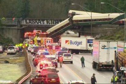 Al menos seis muertos al descarrillar un tren con vagones Talgo en EEUU