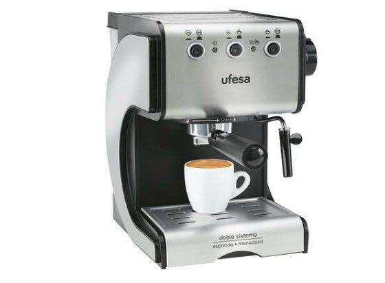 cafeteras más vendidas en Amazon -Ufesa CE7141- Cafetera expreso,