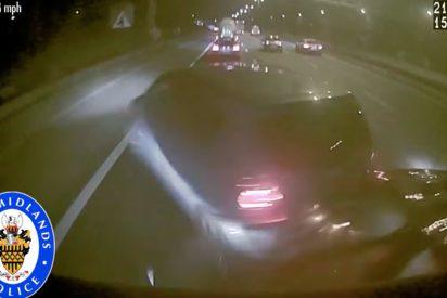 [VIDEO] Esto es lo que pasa cuando te duermes en una autopista al volante