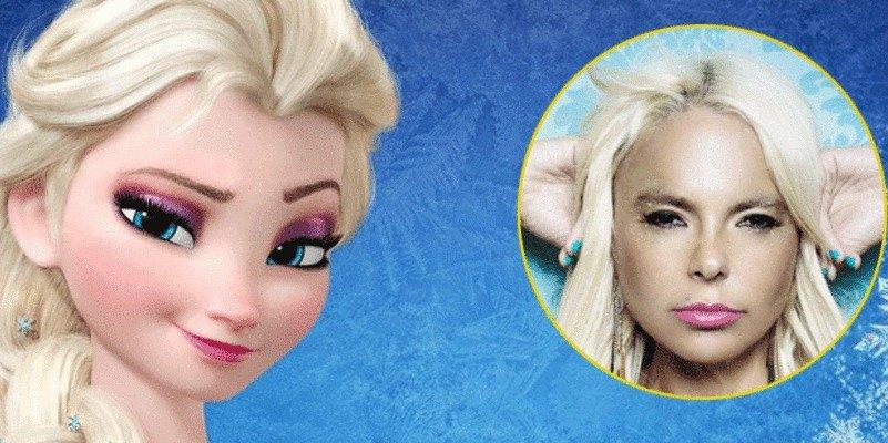 Leticia Sabater se tira al cuello de 'La Prohibida' metamorfoseada en Elsa de Frozen