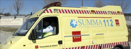 Un bebé sale despedido de su incubadora al chocar la ambulancia con un coche