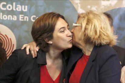 El declive de Colau y Carmena hace temer a Pablo Iglesias una catástrofe y su fin