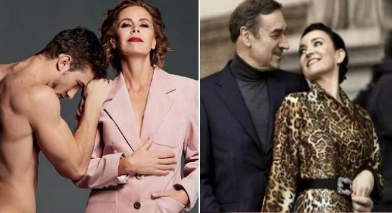 Pedro Jota Ramírez y Ágatha Ruiz de la Prada, 'portadas' de revistas de moda