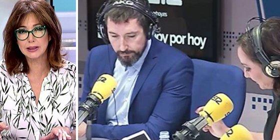 """Los colaboradores de Ana Rosa cogen por la solapa a Toni Garrido por tachar de """"periodismo basura"""" su trabajo"""
