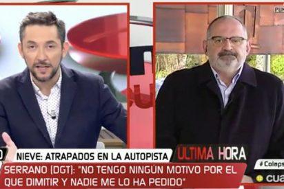 Un Antón Losada fuera de sí presenta la dimisión a Javier Ruiz en Cuatro