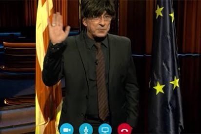 """Buenafuente ridiculiza hasta el absurdo la idea del President por Skype: """"Empezaré mandando a España a la m…"""""""