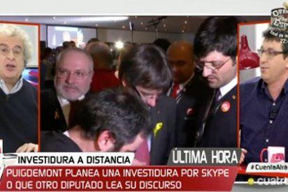 """Calleja arrastra por el fango del procés al independentista de turno en Cuatro: """"¡Lo vuestro es un nivel humanoide y delirante!"""""""