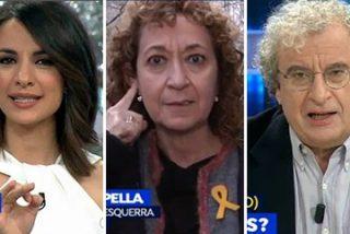 La separatista Capella (ERC) se lleva una buena zurra en 'Espejo Público' y un corte mítico de Esther Vaquero