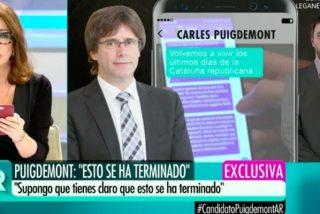 """Ana Rosa Quintana hunde el 'procés' con la exclusiva de su vida: """"Hoy se acaba Puigdemont"""""""