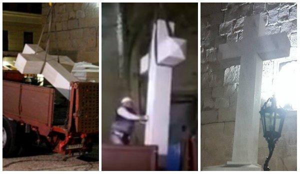 Un alcalde guerracivilista del PSOE retira una cruz que recordaba a 81 personas asesinadas por el Frente Popular