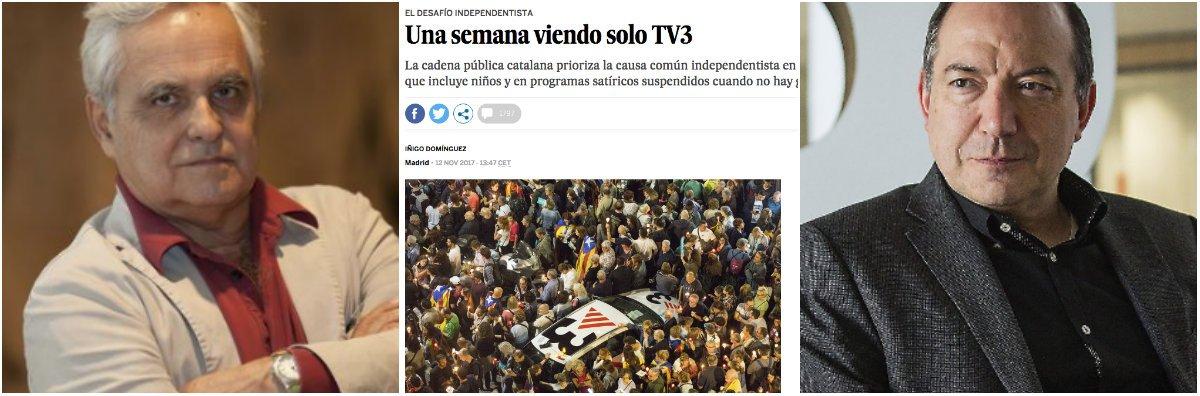 """Brutal contraataque de El País por los intentos censores de TV3: """"Quieren suspender el ejercicio del oficio para beneficiar a los que jalean constantemente"""""""