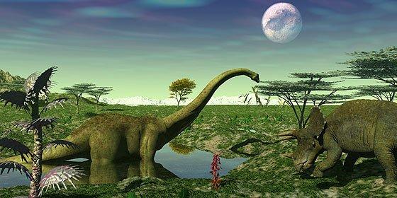 Resultado de imagen de Dinosaurios en su elemento natural