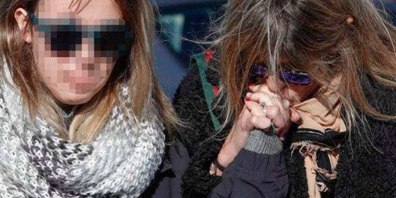 Arancha de Benito y su hija hundidas en el último adiós a Diana Quer