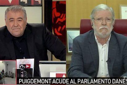 """Rodríguez Ibarra desarma a Ferreras por dar tanto la tabarra con el monotema catalán: """"Lo que haga Puigdemont en Europa me importa un pepino"""""""