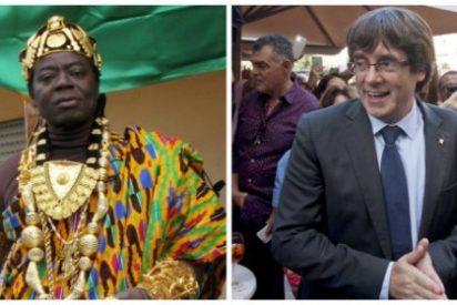 El rey que tiñe de negro la presidencia telemática de Puigdemont