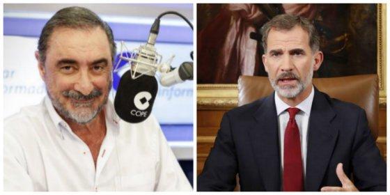 Carlos Herrera mete el miedo en el cuerpo al rey Felipe VI con el jaque que pretenden perpetrar los golpistas