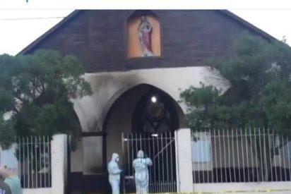 Atacan a una iglesia en Santiago con siete cócteles molotov