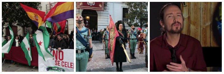 Los podemitas boicotean la Toma de Granada por 'genocida' pero no piden perdón por cobrar de los sátrapas de Irán