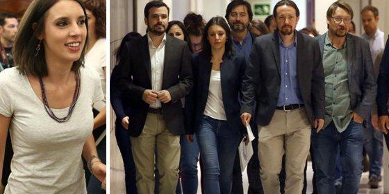 A Irene Montero le estalla en toda la boca su demagogia oportunista por la escasez de mujeres en cargos directivos en España