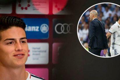 La puñalada trapera de James a Zidane