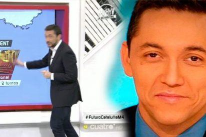 A Javier Ruiz se le va la pinza en Cuatro y dice que 1.500 policías vigilan a Puigdemont