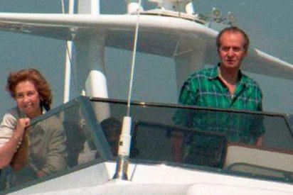 """La modelo que cayó por la borda del yate de Juan Carlos al grito de """"¡Que viene Sofía!"""""""