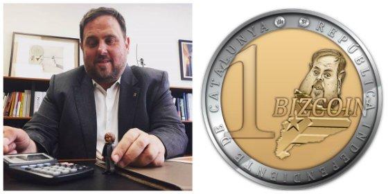 Cachondeo en las redes con la nueva moneda de la República catalana: El 'Bizcoin'