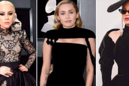 ¿Sabes por qué Lady Gaga, Miley Cyrus y Beyoncé se vistieron de 'luto' en los Grammy?