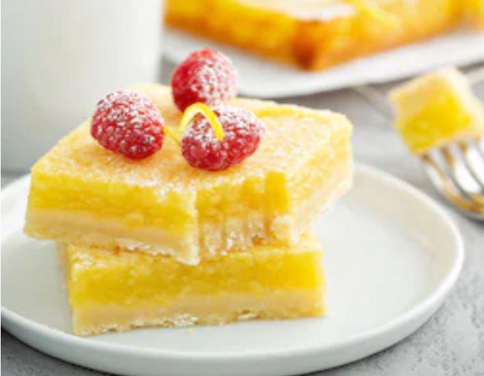 Pastelitos de limón o lemon bars fáciles 🍋