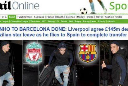 El 'Mail' caza a Coutinho volando a Barcelona: este domingo ya podría estar en el palco del Camp Nou