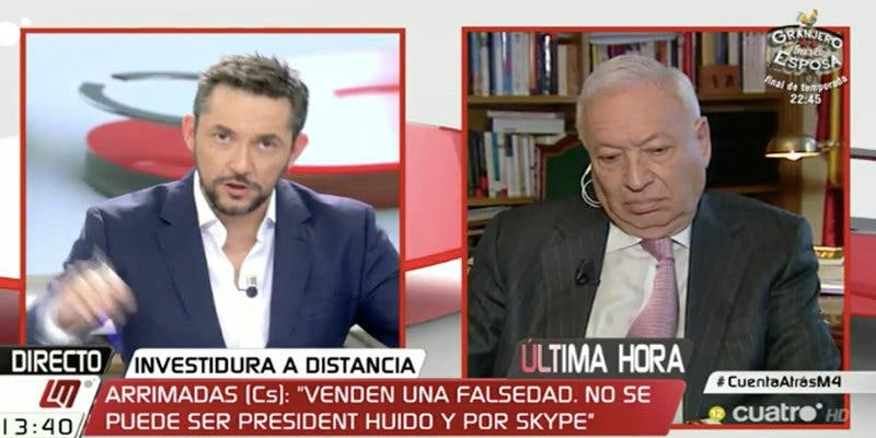 Margallo recuerda que Zapatero nombró a Rato para el FMI y arma la bronca en Cuatro